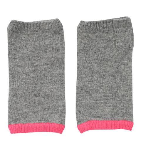 Laycuna London Grey/Pink Stripe Trim Wrist Warmer