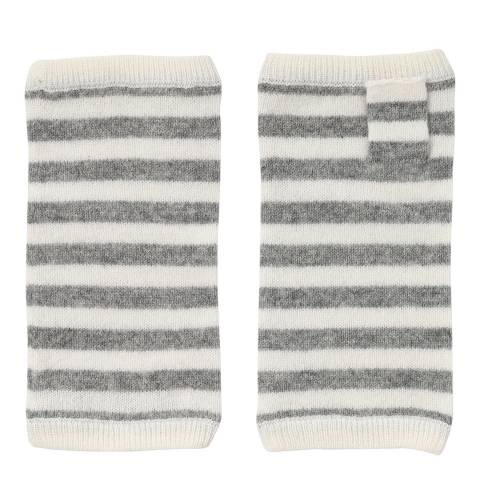 Laycuna London Grey/White Stripy Wrist Warmer