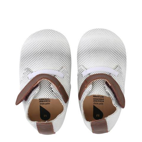 Bobux Baby White Trim Trainer