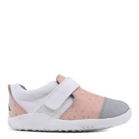 Bobux Kid's Pink/White Lo City Slipper