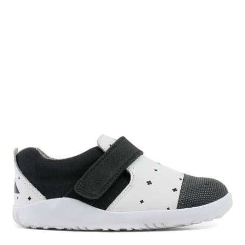 Bobux Kid's White/Black Uni Lo City Slipper