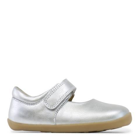 Bobux Kid's  Silver Plain Mary Jane