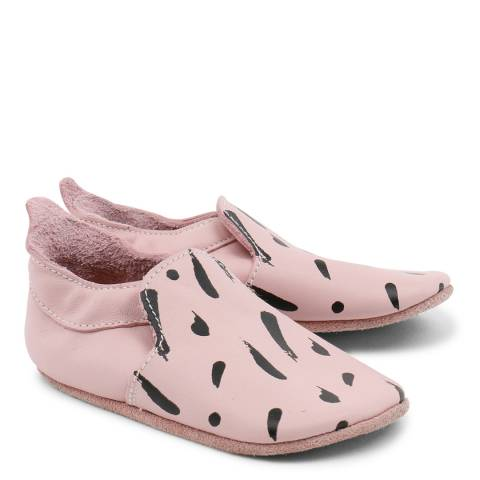Bobux Baby Pink Paint Print Trims Loafer