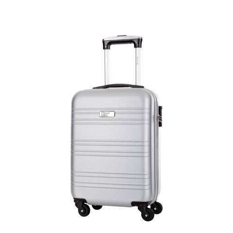 Travel One Silver Child 4 Wheeled Cabin Suitcase 46 cm