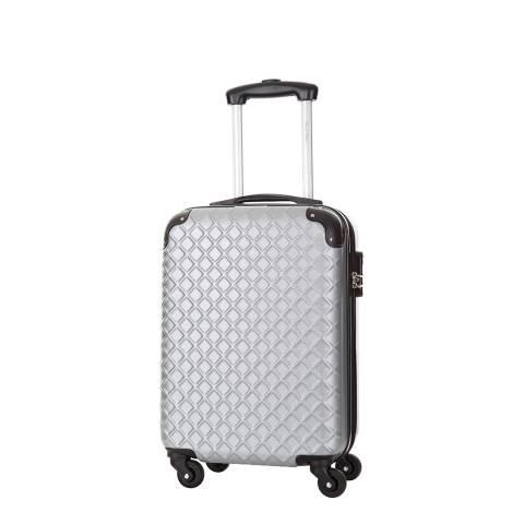 Steve Miller Silver Sailor 4 Wheeled Cabin Suitcase 46 cm