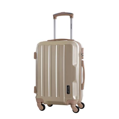 Travel One Beige Vilarosa 4 Wheeled Suitcases 56cm
