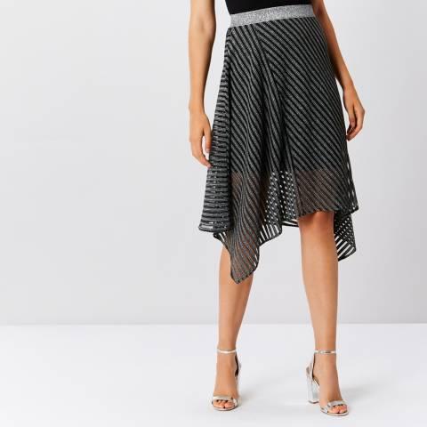 Coast Gun Metal Sena Stripey Skirt