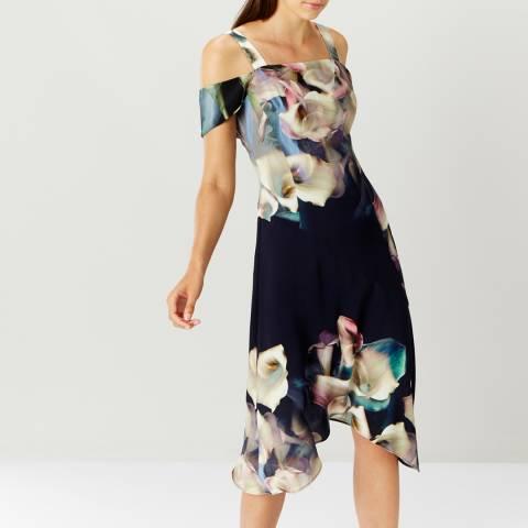 Coast Black Lily Print Soft Shift Dress