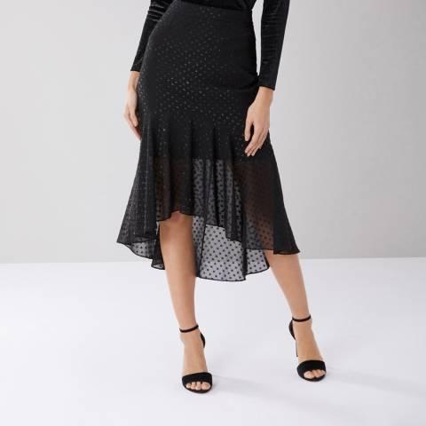 Coast Black Mima Hi-Low Skirt