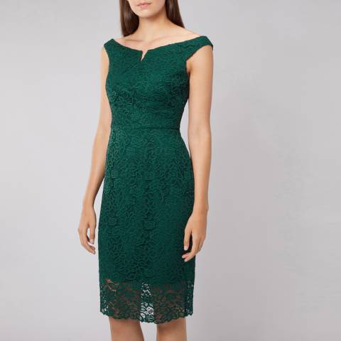 Coast Green Zelda Lace Shift Dress