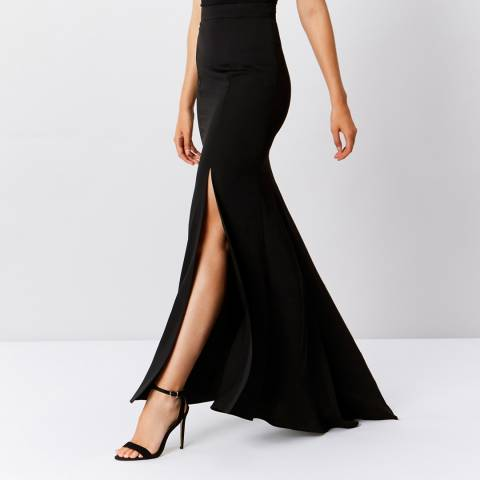 Coast Black Ceri Soft Maxi Prom Skirt