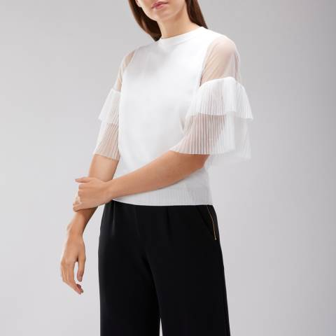 Coast White Kelly Tulle Knit Top