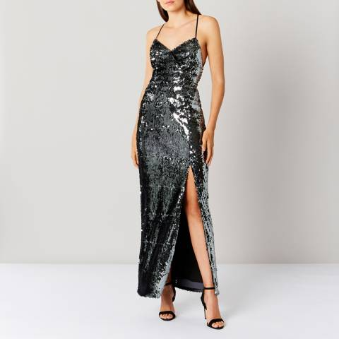 Coast Silver Kadie Sequin Maxi Dress