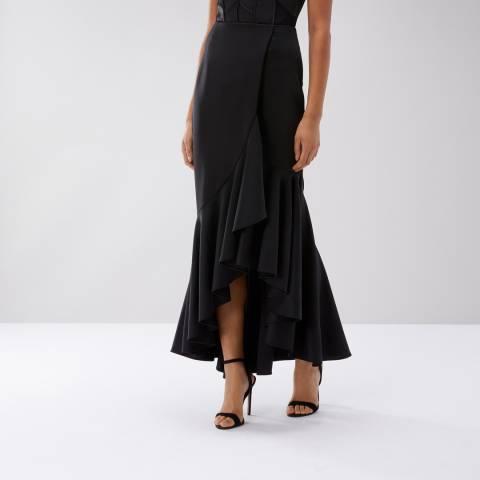 Coast Black Emilie Structured Scuba Skirt