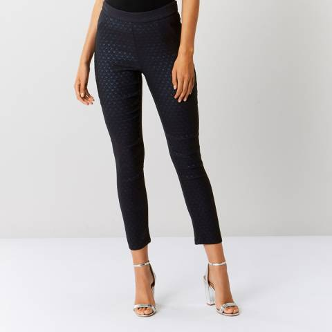 Coast Navy Francesca Textured Trousers