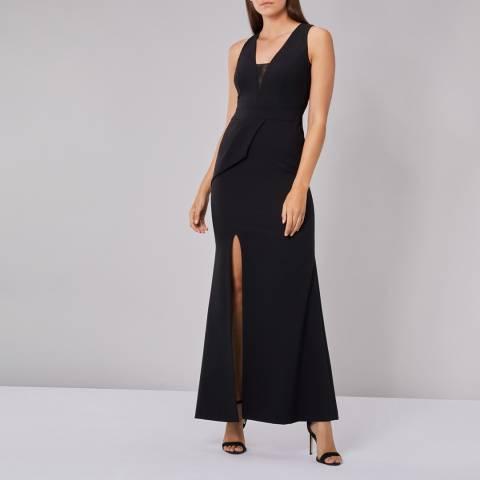 Coast Black Tabia Full Length Dress