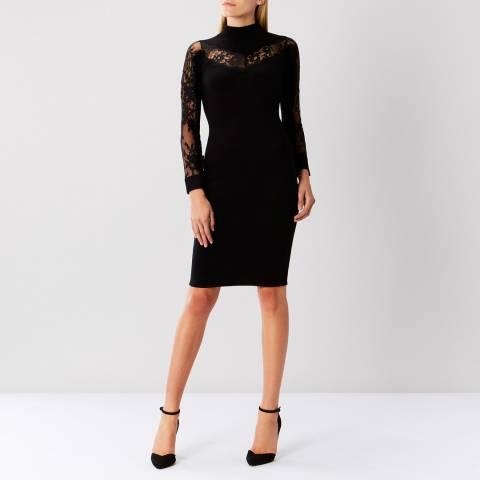 Coast Cecil Lace Trim Knit Dress