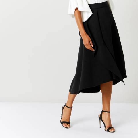 Coast Black Gracie Frill Skirt
