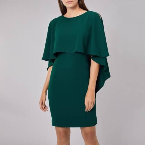 Coast Forest Green Cressida Cape Shift Dress