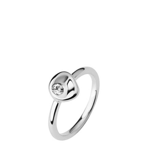 Links of London Silver & Crystal Pebbles Ring