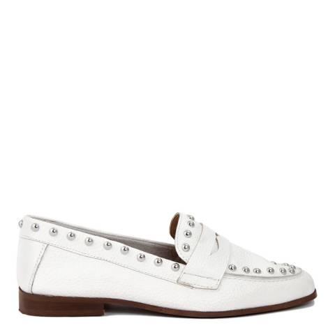 Gusto White Bott Leather Loafer
