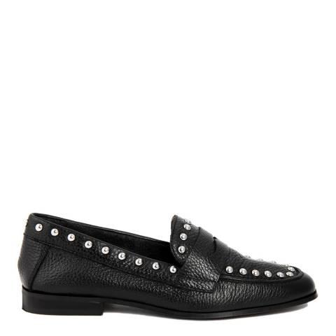 Gusto Black Bott Leather Loafer
