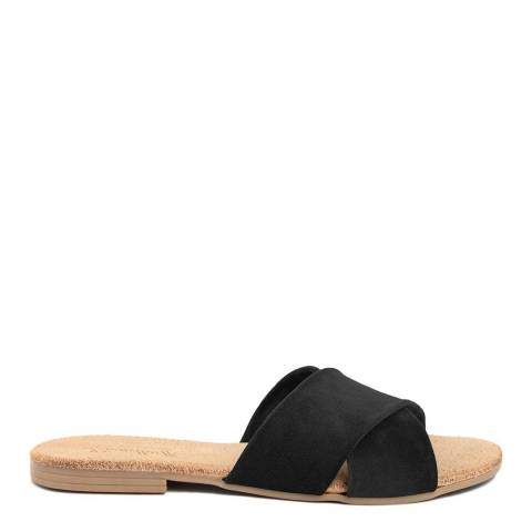 Lionellaeffe Black Suede Cross Front Sandal