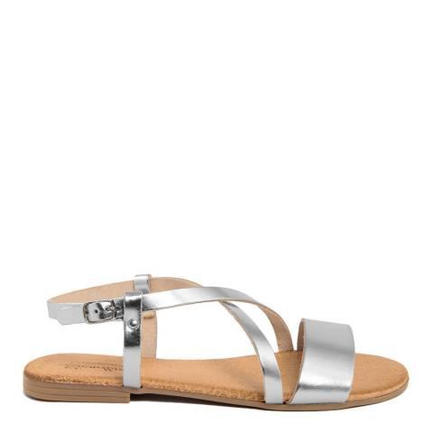 Lionellaeffe Silver Leather Multi Strap Sandal
