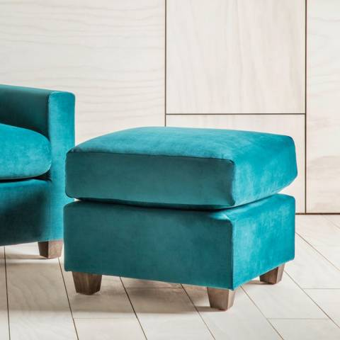 Gallery Stratford Footstool in Brussels Petrol