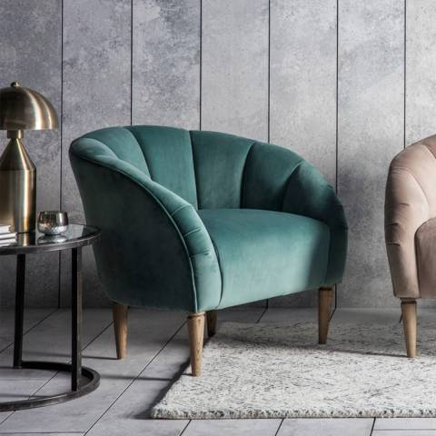Gallery Tulip Chair, Mint Velvet
