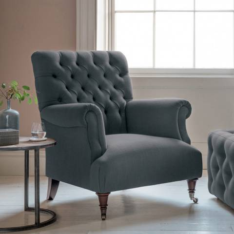 Gallery Hampton Armchair in Field Steel Blue