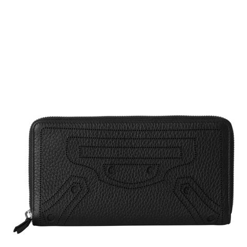 Balenciaga Black Blackout Leather Wallet