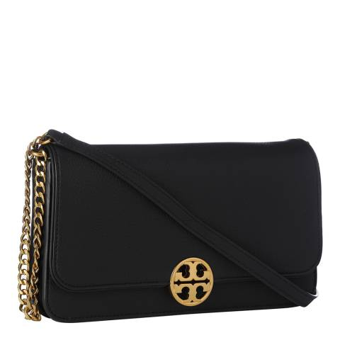 Tory Burch Black Chelsea Leather Clutch Bag
