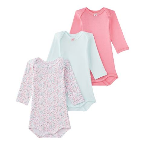 Petit Bateau Baby Multi 3-Pack Bodysuits