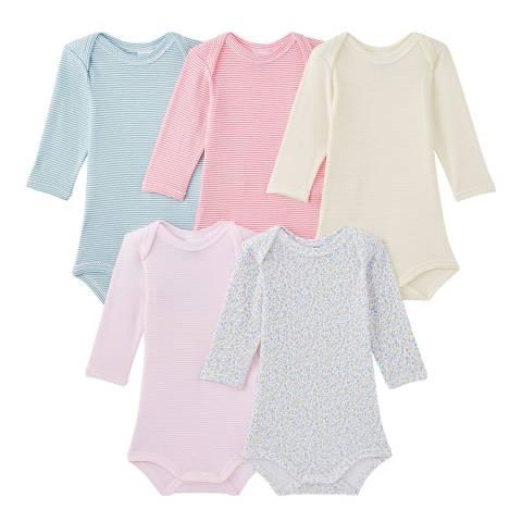 Petit Bateau Baby Multi 5-Pack Bodysuits
