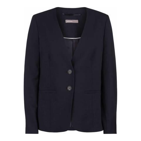 Jaeger Navy Modern Suit Wool Blend Jacket