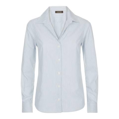 Jaeger Blue Double Stripe Cotton Workshirt