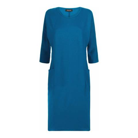 Jaeger Blue Seam Detail Dress