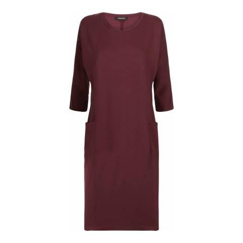 Jaeger Burgundy Seam Detail Dress