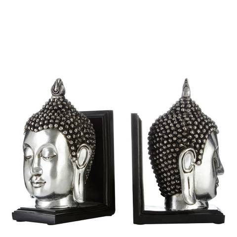 Premier Housewares Set of 2 Buddha Head Bookends