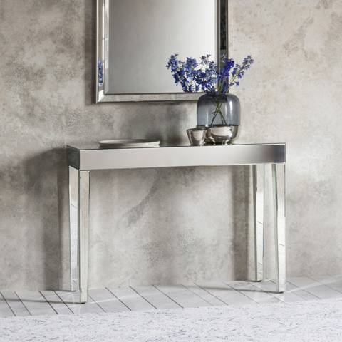 Gallery Florence Mirrored Console Table 1020x355x760mm