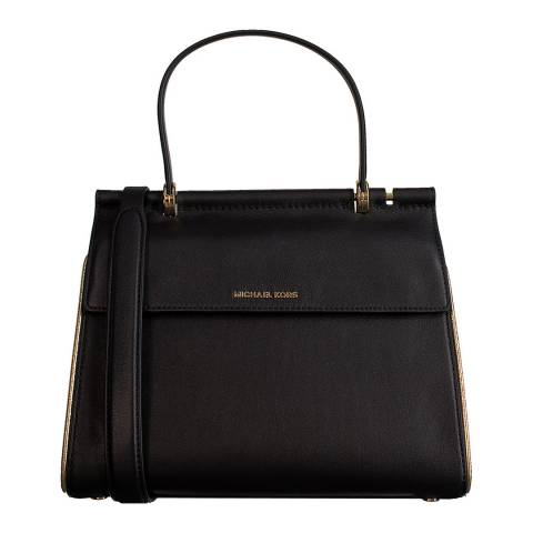 Michael Kors Black/Gold Jasmine Medium Satchel