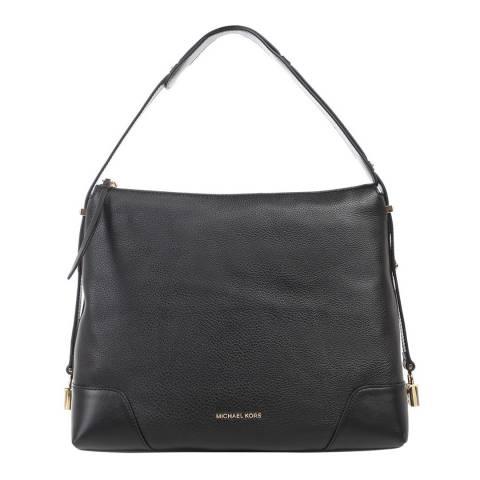 Michael Kors Black Crosby Large Pebbled Leather Shoulder Bag