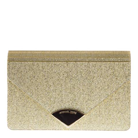 Michael Kors Pale Gold Barbara Envelope Clutch