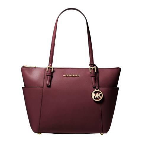 Michael Kors Ox Blood Maddie LG Tote Bag