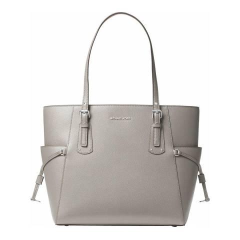 Michael Kors Pearl Grey Voyager Small Tote Bag
