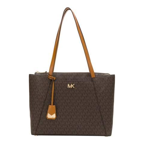 Michael Kors Brown / Acorn Maddie Medium Tote Bag