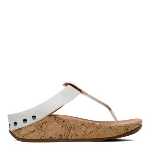 FitFlop Women's Urban White Ibiza Cork Toe Thong Sandal