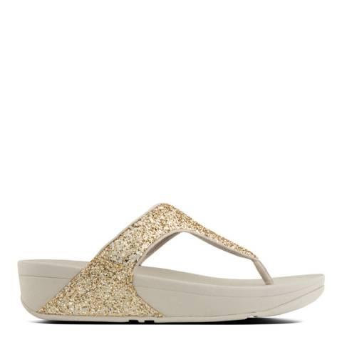 FitFlop Women's Pale Gold Glitterball Toe Post Sandal Women