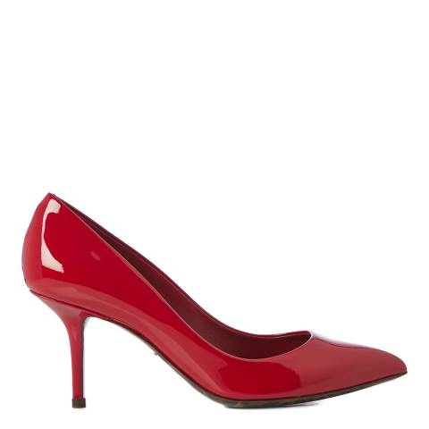 Dolce & Gabbana Women's Red Patent Mid Stiletto Pumps